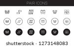 pair icons set. collection of... | Shutterstock .eps vector #1273148083