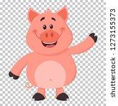 cute pig cartoon character... | Shutterstock . vector #1273155373