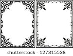 pair of vintage frames | Shutterstock .eps vector #127315538