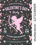 valentine's day party... | Shutterstock .eps vector #1273158409