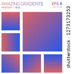 colorful gradients in mahogany  ... | Shutterstock .eps vector #1273173253