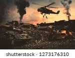 helicopter and forces in... | Shutterstock . vector #1273176310
