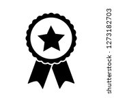 award vector icon  badge with... | Shutterstock .eps vector #1273182703