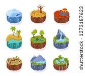 isometric 3d islands  for... | Shutterstock .eps vector #1273187623