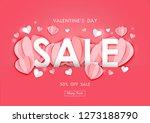valentine's day sale background ... | Shutterstock .eps vector #1273188790