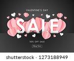 valentine's day sale background ... | Shutterstock .eps vector #1273188949