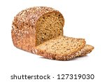 whole grain bread isolated on...   Shutterstock . vector #127319030