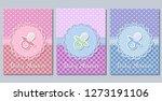 baby shower cards. cute... | Shutterstock . vector #1273191106
