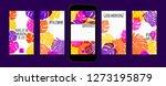 stories template design. tropic ... | Shutterstock .eps vector #1273195879