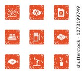 chemistry the threat icons set. ... | Shutterstock . vector #1273199749