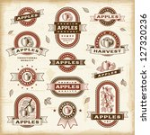 Vintage Apple Labels Set....