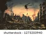 helicopter and forces in... | Shutterstock . vector #1273203940