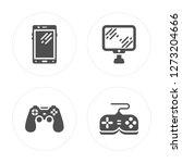 4 smartphone  game controller ...   Shutterstock .eps vector #1273204666