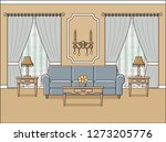 room interior. living room with ... | Shutterstock . vector #1273205776