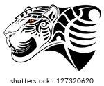 vector leopard  tribal tattoo | Shutterstock .eps vector #127320620