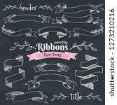set of vintage decorative hand... | Shutterstock .eps vector #1273210216