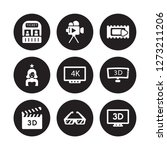 9 vector icon set   box office  ... | Shutterstock .eps vector #1273211206