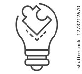 puzzle bulb icon. outline... | Shutterstock . vector #1273212670