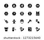 vector illustration of 20 icons.... | Shutterstock .eps vector #1273215640