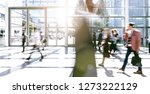 blurred large crowd of people | Shutterstock . vector #1273222129