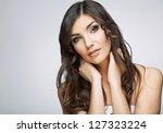 beauty woman portrait. close up.... | Shutterstock . vector #127323224