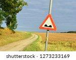 speed bump warning sign in... | Shutterstock . vector #1273233169