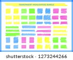 transparent highlight pen marks ... | Shutterstock .eps vector #1273244266