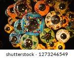 beautiful turkish lamp... | Shutterstock . vector #1273246549