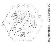music notes symbols flying... | Shutterstock .eps vector #1273248190
