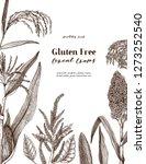 gluten free plants design. hand ...   Shutterstock .eps vector #1273252540