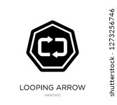 looping arrow icon vector on... | Shutterstock .eps vector #1273256746