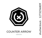 counter arrow icon vector on...   Shutterstock .eps vector #1273256809