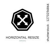 horizontal resize icon vector... | Shutterstock .eps vector #1273256866