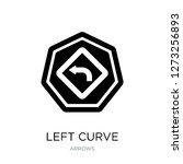left curve icon vector on white ...   Shutterstock .eps vector #1273256893