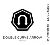 double curve arrow icon vector... | Shutterstock .eps vector #1273256899