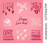 valentines day card or... | Shutterstock .eps vector #1273266709