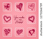 valentines day card or... | Shutterstock .eps vector #1273266739