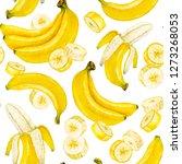 banana. banana slice. bunch of... | Shutterstock . vector #1273268053
