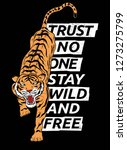 wild and free tiger vector... | Shutterstock .eps vector #1273275799
