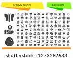 spring icon set. 120 filled...   Shutterstock .eps vector #1273282633