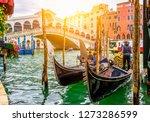 rialto bridge and grand canal...   Shutterstock . vector #1273286599
