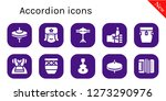 accordion icon set. 10 filled... | Shutterstock .eps vector #1273290976
