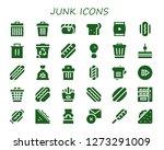 junk icon set. 30 filled junk icons. Simple modern icons about  - Trash, Hot dog, Sandwich, Snack, Fried chicken, Garbage, Skip, Waste, Fries, Hotdog, Vending machine, Mustard