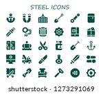 steel icon set. 30 filled...   Shutterstock .eps vector #1273291069
