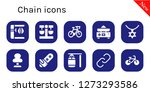 chain icon set. 10 filled... | Shutterstock .eps vector #1273293586