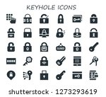 keyhole icon set. 30 filled... | Shutterstock .eps vector #1273293619