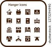 hanger icon set. 16 filled... | Shutterstock .eps vector #1273294990