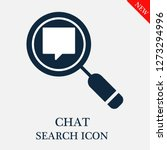 chat search icon. editable chat ...