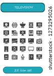 television icon set. 25 filled ... | Shutterstock .eps vector #1273295026