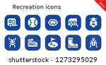 recreation icon set. 10 filled ... | Shutterstock .eps vector #1273295029